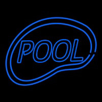 Pool Swimming Neon Skilt