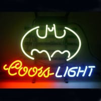 Professional Coors Batman Beer Bar Opens Neon Skilt