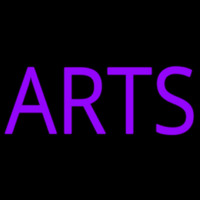 Purple Arts Neon Skilt