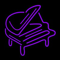 Purple Piano Neon Skilt