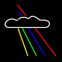 Rainbow And Cloud Neon Skilt