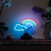 Rainbow Cloud Desktop Neon Skilt
