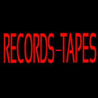 Records Tapes Neon Skilt