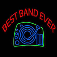 Red Best Band Ever Neon Skilt