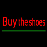Red Buy The Shoes Neon Skilt