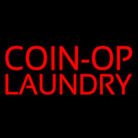 Red Coin Op Laundry Neon Skilt
