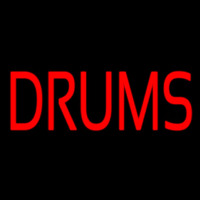 Red Drums Block Neon Skilt