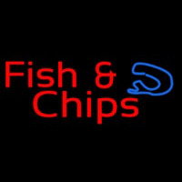 Red Fish And Chips Neon Skilt