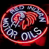 Red Indian Motor Oils Øl Bar Neon Skilt