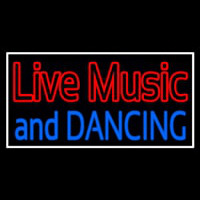 Red Live Music Blue And Dancing 1 Neon Skilt