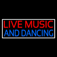 Red Live Music Blue And Dancing 2 Neon Skilt
