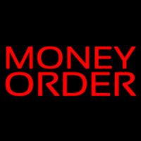 Red Money Order Neon Skilt