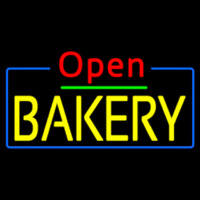 Red Open Yellow Bakery Neon Skilt