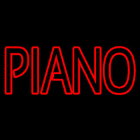 Red Piano Block Neon Skilt