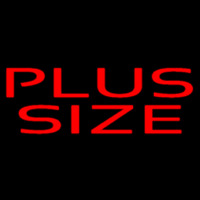 Red Plus Size Neon Skilt