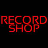 Red Record Shop Block 1 Neon Skilt