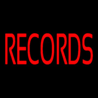 Red Records 1 Neon Skilt