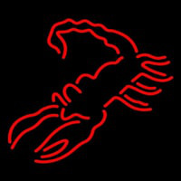 Red Scorpion Logo Neon Skilt
