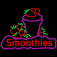 Red Smoothies Neon Skilt