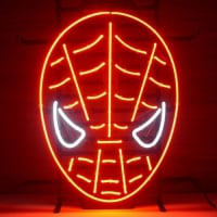 Red Spiderman Neon Skilt