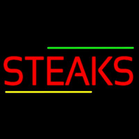 Red Steaks Neon Skilt