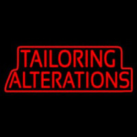 Red Tailoring Alterations Neon Skilt
