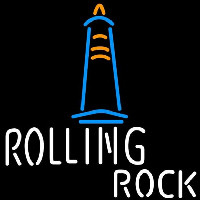 Rolling Rock Lighthouse Beer Sign Neon Skilt