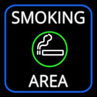 Round Smoking Area With Cigar Neon Skilt