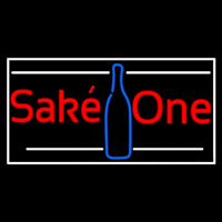 Sake One With Bottle 1 Neon Skilt