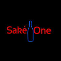 Sake One With Bottle Neon Skilt