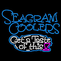 Seagram Test Of This Wine Coolers Beer Sign Neon Skilt