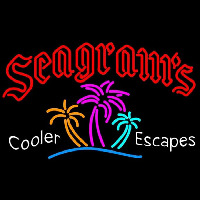 Seagrams Wild Berry Margarita Strawberry Daiquiri Wine Coolers Beer Sign Neon Skilt