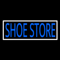 Shoe Store With Border Neon Skilt