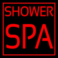 Shower Spa Neon Skilt