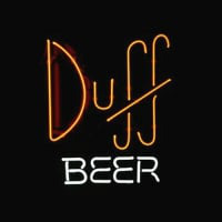 Simpsons Duff Øl Butik Bar Neon Skilt