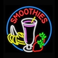 Smoothies with Fruit Neon Skilt