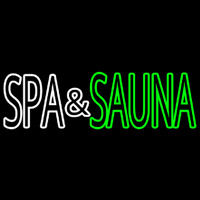 Spa And Sauna Neon Skilt