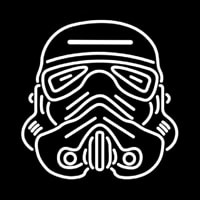 Star Wars Storm Trooper Helmet Neon Skilt