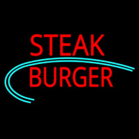 Steak Burger Neon Skilt