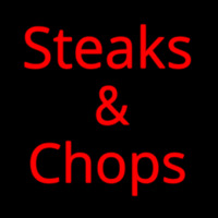Steaks And Chops Neon Skilt