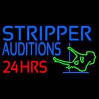 Stripper Audition 24 Hrs Logo Neon Skilt