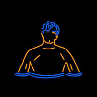 Swimming Boy Neon Skilt