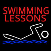 Swimming Lessons Neon Skilt