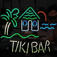TIKI BAR TROPICAL Neon Skilt