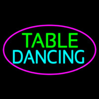 Table Dancing Neon Skilt