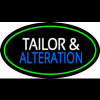 Tailor And Alteration Oval Green Neon Skilt