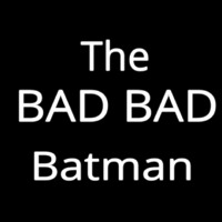 The Bad Batman Neon Skilt