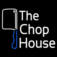 The Chophouse With Knife Neon Skilt