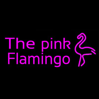 The Pink Flamingo Neon Skilt