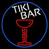 Tiki Bar Martini Neon Skilt